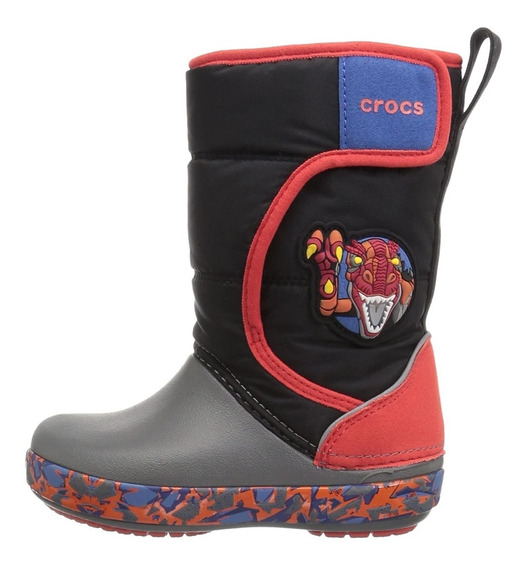 Crocs Lodgepoint Lights Bota Preski Niños Luces Nieve