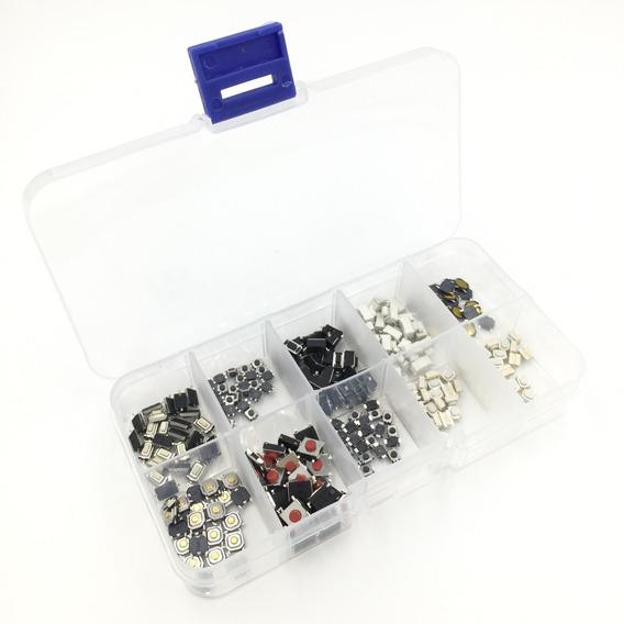 250 Pcs Micro Botão Switch Smd + Case