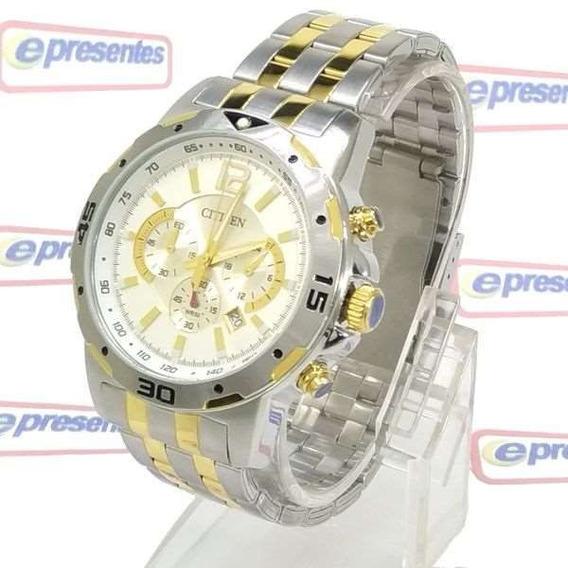 An8104-53e Relógio Masculino Citizen Wr50m Aço 100% Original