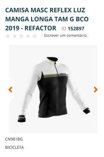 Camisa Masc Reflex Luz Manga Longa Tam G Bco 2019 - Refactor