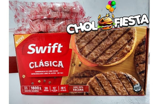 60 Hamburguesas Swift 80grs + Pan Fargo