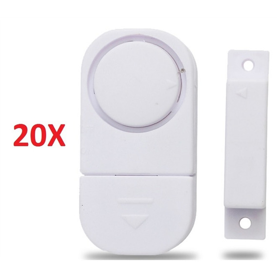 Kit 20 Alarmes Sonoro De Porta Ou Janela Sem Fios