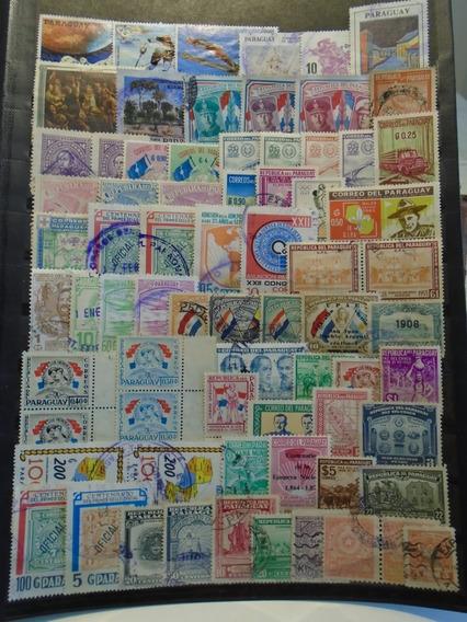 Estampillas Paraguay. 72 Sellos.lote Oferta.