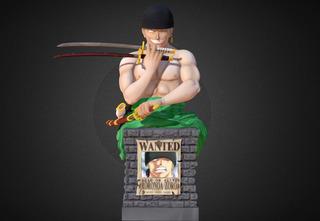 Roronoa - One Piece - Stl Para Impresion 3d
