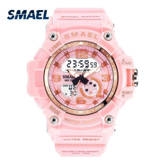 Relógio Smael 1808 Digital Analógico Original Caixa Pequena