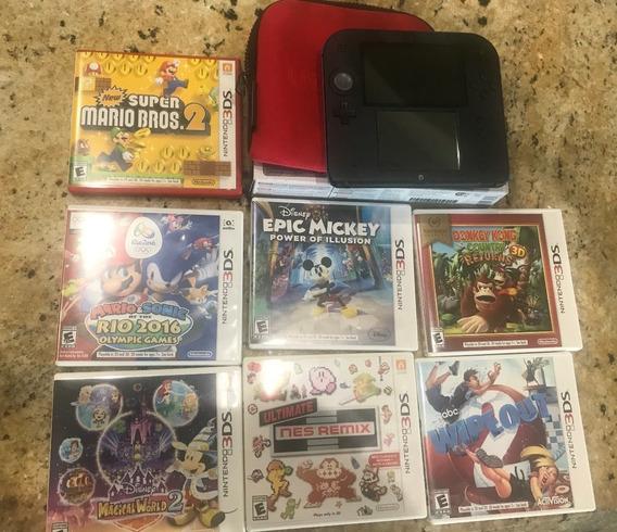 Nintendo 2ds Con Mario Kart 7 Precargado + 7 Juegos Cartucho