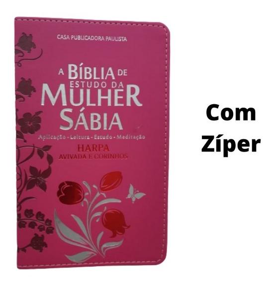 Bíblia De Estudo Da Mulher Sabia Luxo Palavras Edificantes