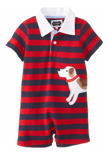 Mud Pie Baby-boys Recién Nacido Cachorro Polo One Piece