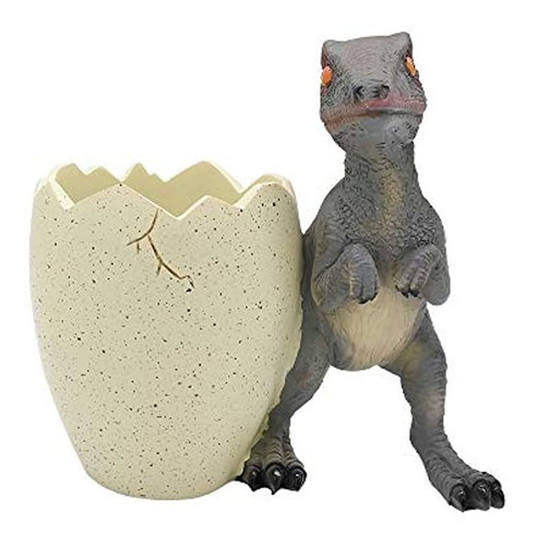 Imagen 1 de 7 de Portalápices De Huevo De Dinosaurio Velocisaurus