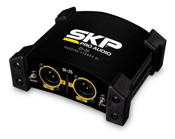 Direct Box Skp Passivo Stéreo 2 Canais Di-2s