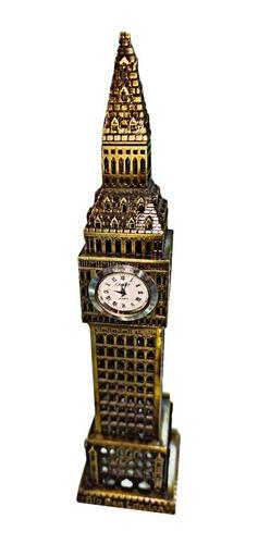 Estatuilla Escala Torre Reloj Big Ben Londres 24cm Metal