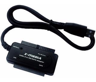 Cable Adaptador Usb3 A Ide Y Sata 2.5 3.5 X-media Xm-ub3235s