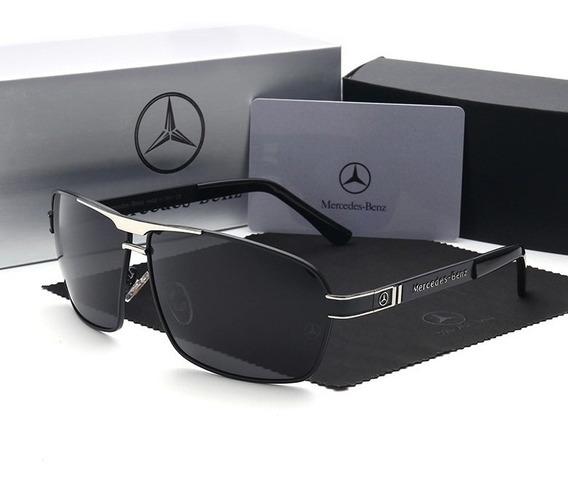 Óculos Mercedes Benz Black / Lentes Polarizadas - Mb 722 62