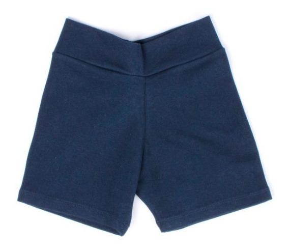 Shorts Escolares Niñas Jeyra Cotton Licra Marino
