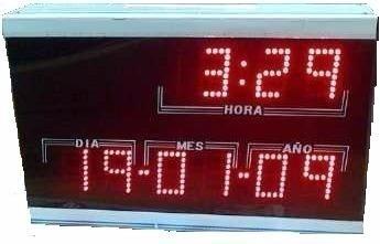 Reloj Digital De Pared Banco, Med: 44cms X 28cms X 9.5cms