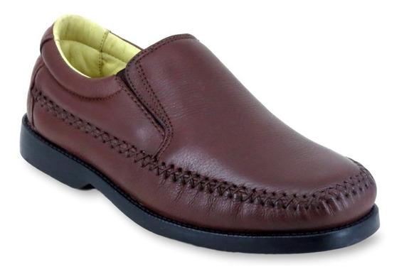 Sapato Casual Masculino Clacle Em Couro Leve Confortável