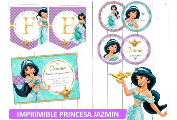 Kit Imprimible Princesa Jazmín Aladdin