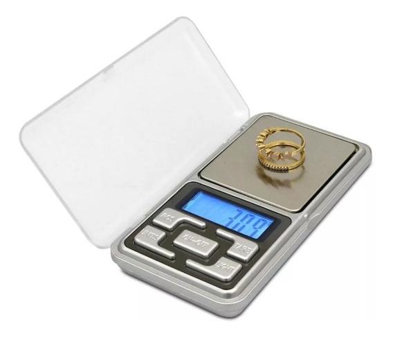 Mini Balança Digital De Bolso Alta Precisão Até 500gr