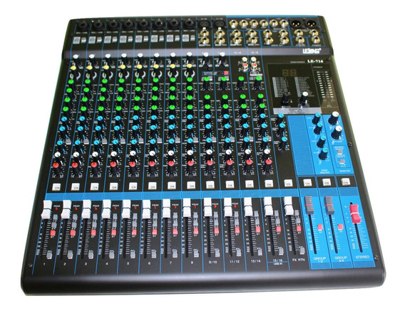 Mesa Profissional Mixer 16 Canais 8 Entradas Para Microfone