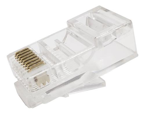 Pack X 5 Ficha Rj45 Cable Red Utp Conector Plug Rj 45 Cat5