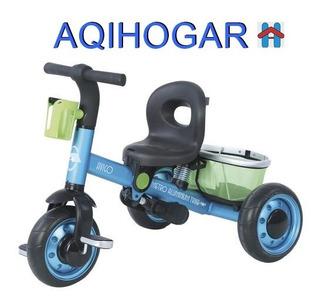 Triciclo Maxtoys Niño Niña Acero Reforzado Llantas Goma