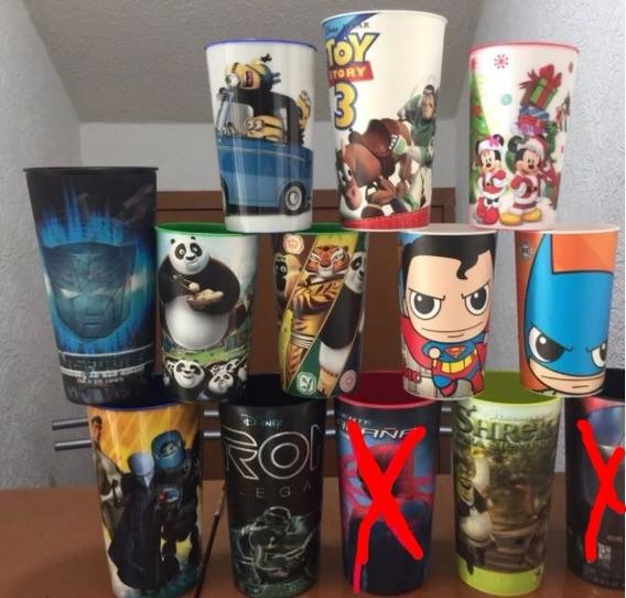 Vasos Cine Cinemex Cinepolis Batman Toy Story Disney