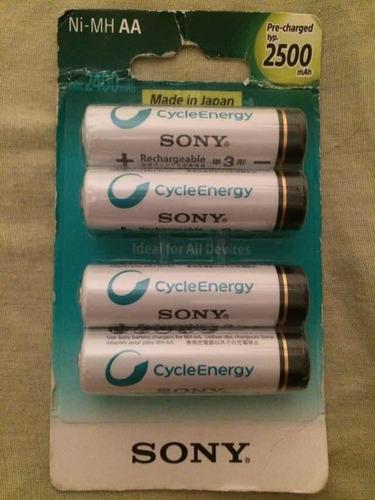 Baterías Pilas Recargable Sony Aa X2 - 2.500mah - Precargada