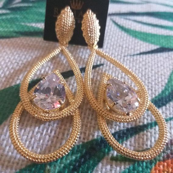 Semijoias Banhadas A Ouro 18k Com Pedra Em Zirconias