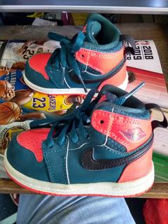 Tenis Air Jordan 1 Para Bebé. Westbrook 11cm