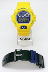 Rel Casio G-shock Dw-6900brasil-9dr Digital + Pul. Adicional
