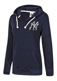 Sudadera Ny Yankees Made-4506 Marino Dama Pv