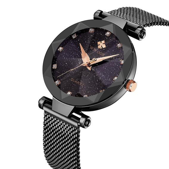 Wwoor 8869 Mulheres Relógio De Quartzo Pulseira De Aço