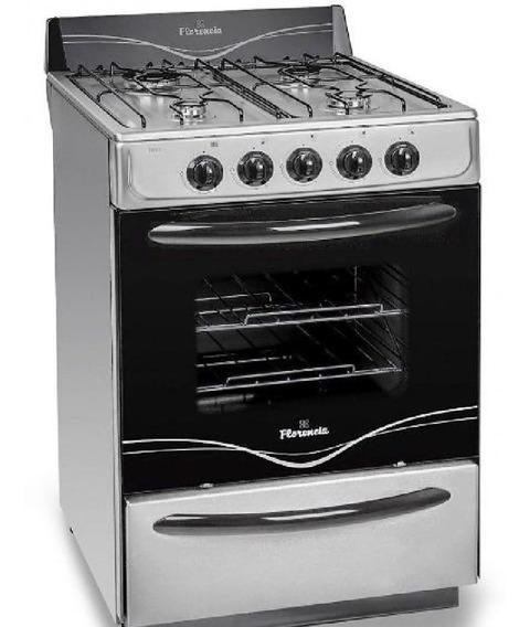 Cocina A Gas Florencia 5518f 56cm A.inox Fac/limp Mult 7871