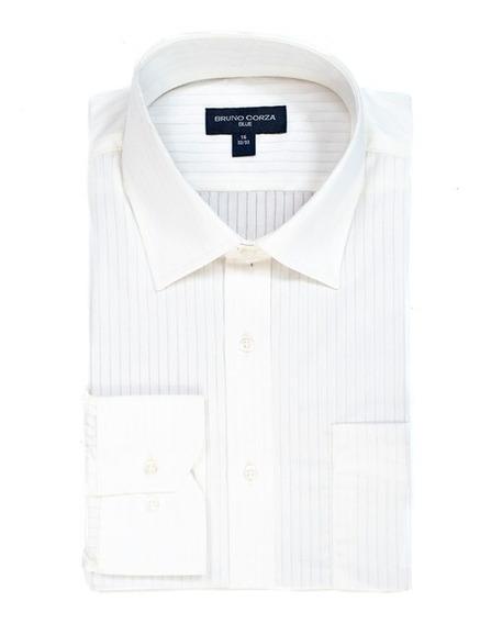 Camisa Modern Fit Para Caballero Bruno Corza Color Blanco