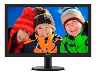 """Monitor Philips 243V5LHSB LCD 23.6"""" negro 110V/220V (Bivolt)"""