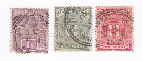 Lt429. Colonia Británica De Jamaica, Sellos Antiguos.