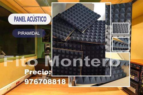 Panel Acústico Piramidal- Espuma Acustica Piramidal Esponja