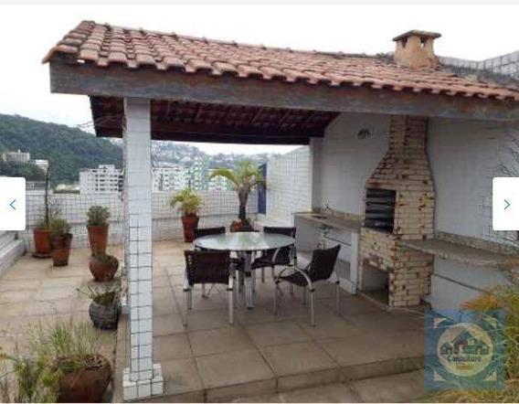 Cobertura Com 3 Dormitórios À Venda, 270 M² Por R$ 700.000,00 - Campo Grande - Santos/sp - Co0101