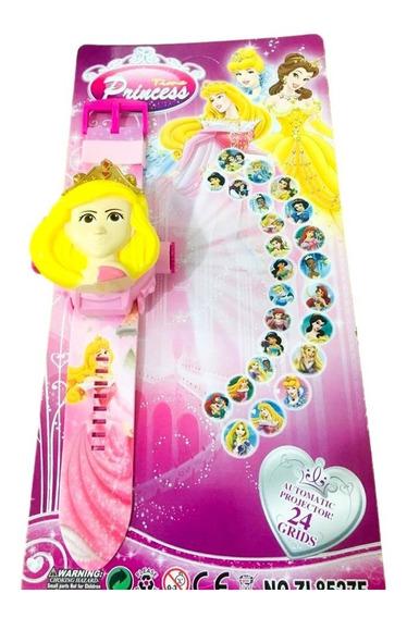 Relógio Infantil As Princesas Projetor 24 Grids Aurora