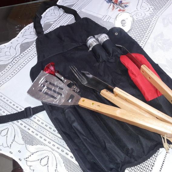 Avental Kit Churrasqueira Avental + 7 Peças