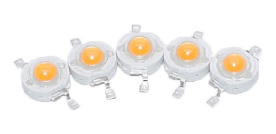 10 Unidades Chip Led Cob 1w Amarillo 590-592nm 2,0-2,2 V