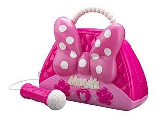 Minnie Mouse La Voz Cambio Boombox Con Microfono Canta A Con