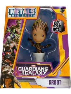 Muñeco Figura Metál Die Cast Groot Marvel. Original.