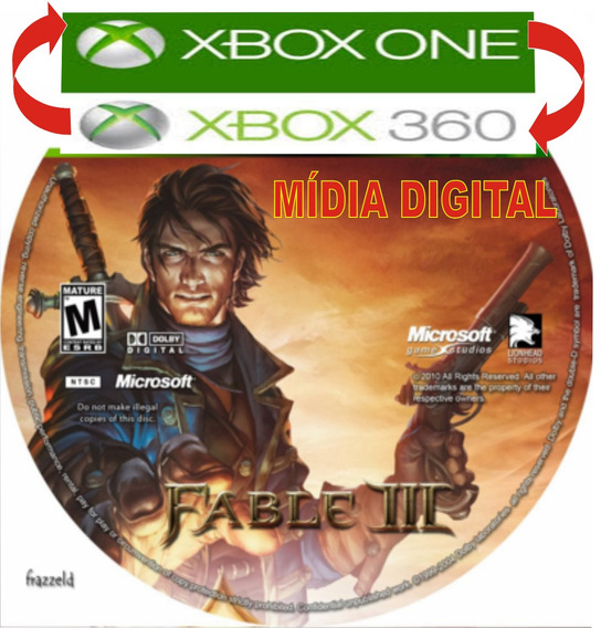 Fable 3 - Xbox One / Xbox 360 - Mídia Digital, Completo