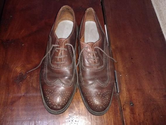 Zapatos De Cuero Para Vestir, Talle 40