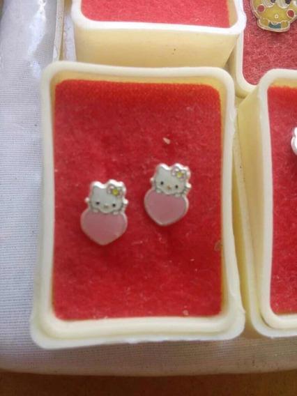 Aretes Para Niña O Bebe Gatita Hello Kitty Accesorios