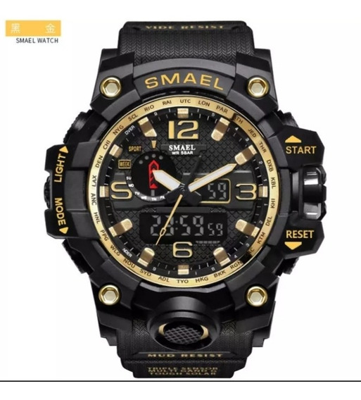 Relógio G-shock Smael, Dourado Tático Militar Prova D