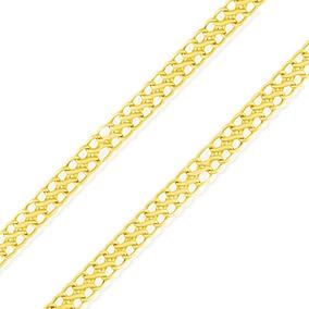 Corrente Lacraia 45cm Ouro 18k, 4mm Largura 4g