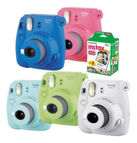 Câmera Instax Mini 9 + Filme 10 Fotos - Diferentes Cores