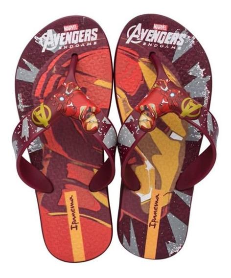 Chinelo Ipanema Avengers Homem De Ferro Vermelho 010813